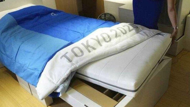 Кровать изОлимпийской деревни. Фото Twitter