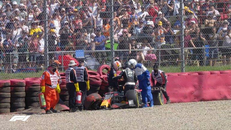 Макс Ферстаппен после вылета. Фото «Формула-1»