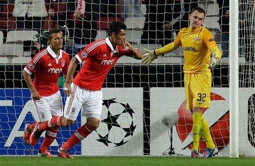 «Бенфика»— «Спартак»— 2:0, 7ноября 2012 года. Фото APPhoto/Armando Franca