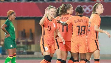 Женская сборная Нидерландов забила 10 голов Замбии наолимпийском футбольном турнире