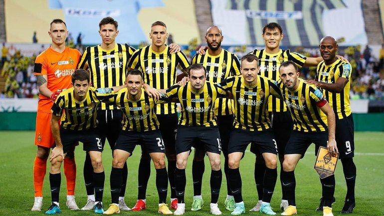 21июля. «Кайрат»— «Црвена звезда»— 2:1. Казахстанская команда перед матчем. Фото Instagram
