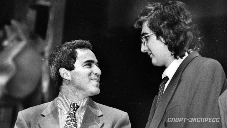 Гарри Каспаров иВладимир Крамник. Фото Дмитрий Солнцев, -