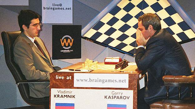 Владимир Крамник и Гарри Каспаров.