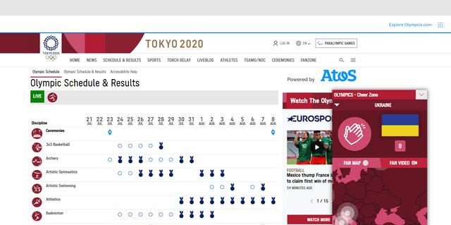 Официальный сайт Олимпийских игр.