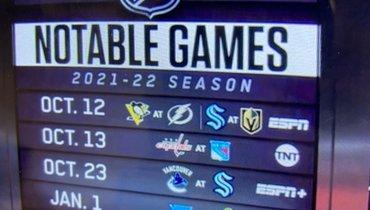 Анонс календаря НХЛ наESPN. Фото Twitter