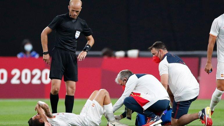 Дани Себальос вматче Олимпийской сборной Испании против Египта. Фото Twitter
