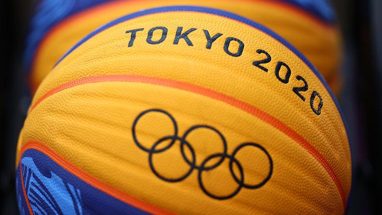 Мяч олимпийского турнира побаскетболу 3x3 вТокио. Фото Reuters