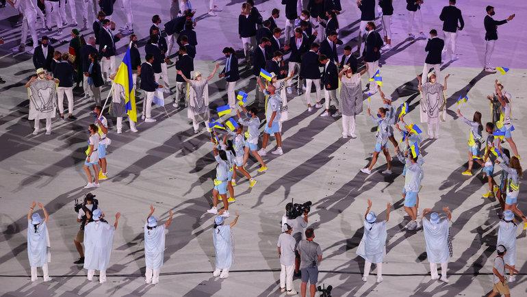 Делегация сборной Украины. Фото Reuters