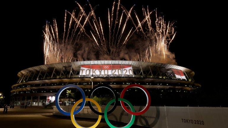 Церемония открытия Олимпиады вТокио. Фото Twitter