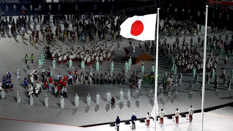 Спортсмены, судьи итренеры произнесли олимпийскую клятву нацеремонии открытия Игр. Фото Twitter