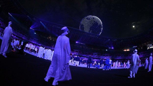 Шоу дронов. Фото AFP