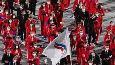 Команда России нацеремонии открытия Олимпиады-2020. Фото AFP