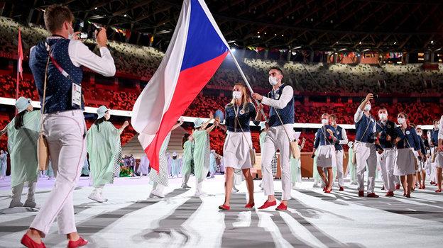 Петра Квитова несет флаг сборной Чехии. Фото Getty Images