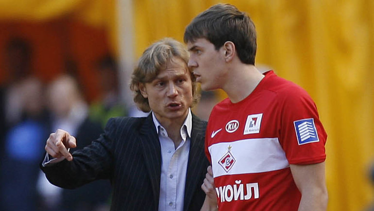 Валерий Карпин иАртем Дзюба. Фото Александр Федоров, «СЭ»