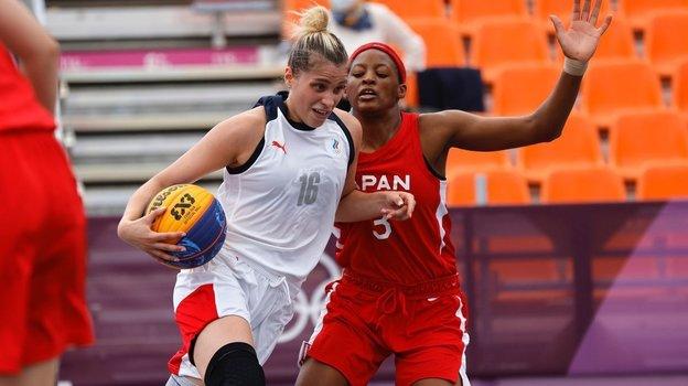 Российские баскетболистки обыграли Японию в первом матче баскетбола 3x3. Фото ОКР