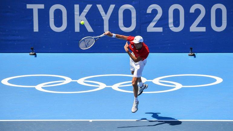 Даниил Медведев обыграл Александра Бублика впервом круге Олимпийских игр. Фото olympics.com