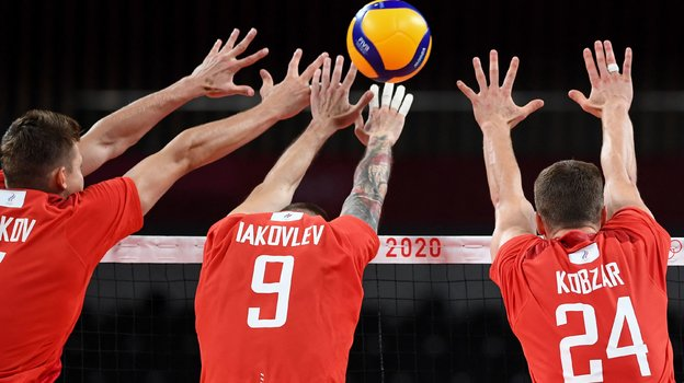 Игроки сборной России поволейболу. Фото AFP