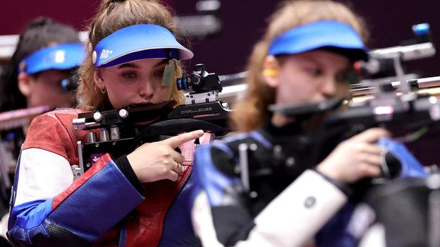 Анастасия Галашина наолимпийском стрельбище.