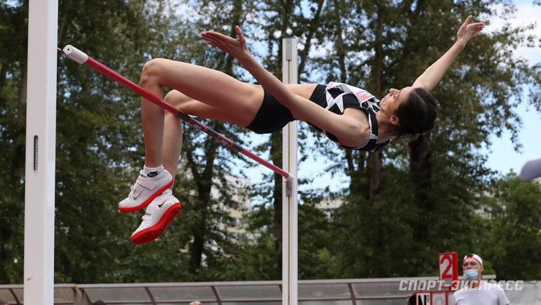 24июля. Москва. Победный прыжок Марии Ласицкене.