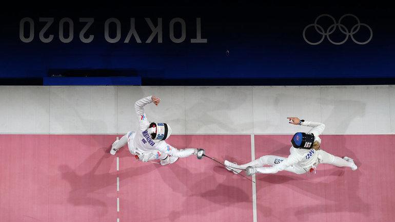 Поединок Айзанат Муртазаевой (слева) иКатрины Лехис забронзу. Фото Getty Images