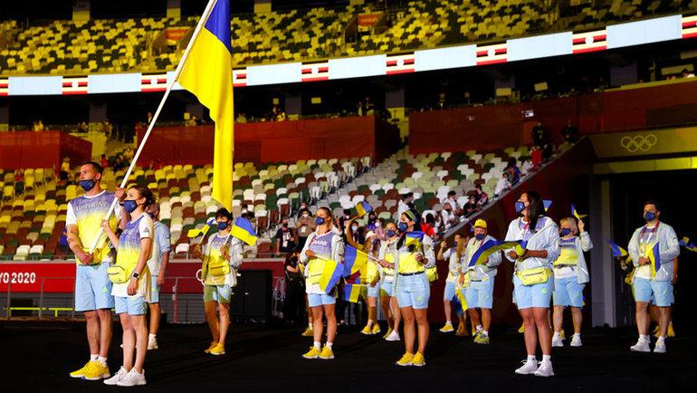 Сборная Украины вовремя открытия Олимпиады. Фото Getty Images