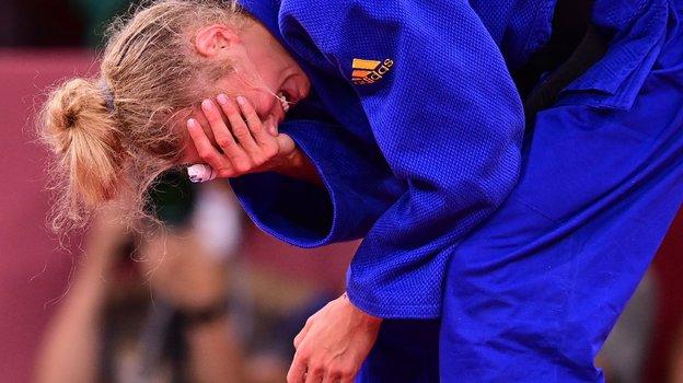 Это— слезы счастья после выигранной олимпийской бронзы. Фото AFP