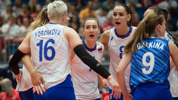 Волейболистки сборной России. Фото FIVB