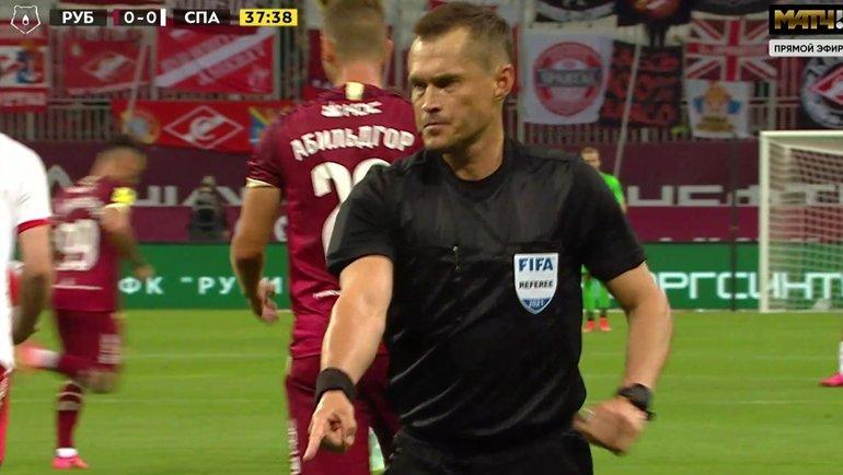 «Рубин»— «Спартак»: правильноли отменен гол Жиго, иимелли право вмешаться ВАР.