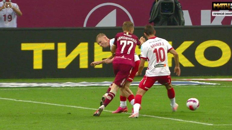 «Рубин»— «Спартак»: почему Безбородов неназначил пенальти вспартаковские ворота.