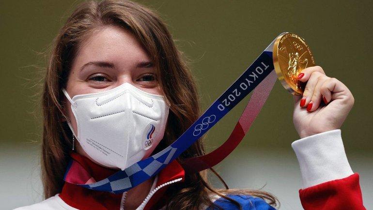 Виталина Бацарашкина принесла России первое золото наОлимпиаде. Фото ОКР