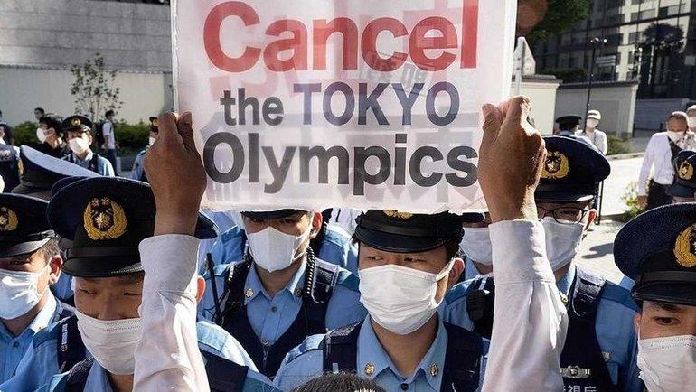 Протесты против проведения Олимпийских игр вТокио. Фото Instagram