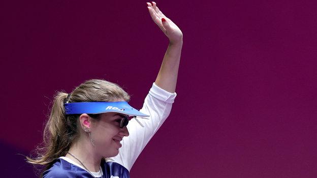 25июля. Токио. Виталина Бацарашкина— олимпийский чемпион Токио встрельбе изпневматического пистолета с10 метров.