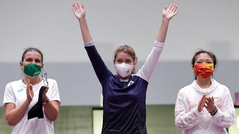 Виталина Бацарашкина (вцентре). Фото Reuters