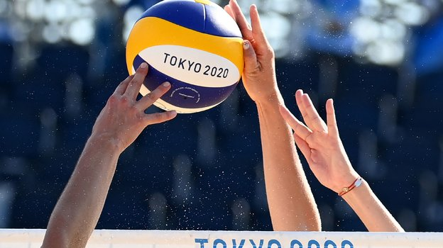 Пляжный волейбол наОлимпиаде-2020 вТокио. Фото AFP
