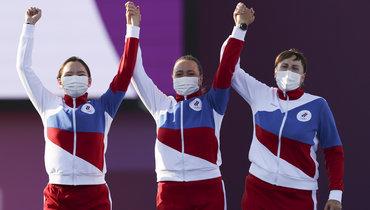 Светлана Гомбоева, Елена Осипова иКсения Перова. Фото Getty Images