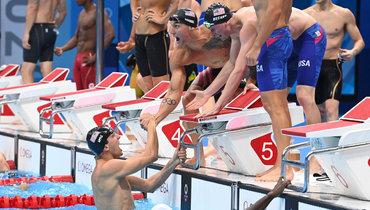 США выиграли мужскую эстафету вплавании на4х100 м, Россия— седьмая
