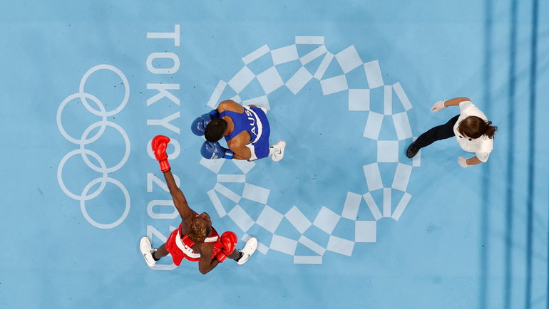 Олимпийский турнир побоксу вТокио. Фото Reuters
