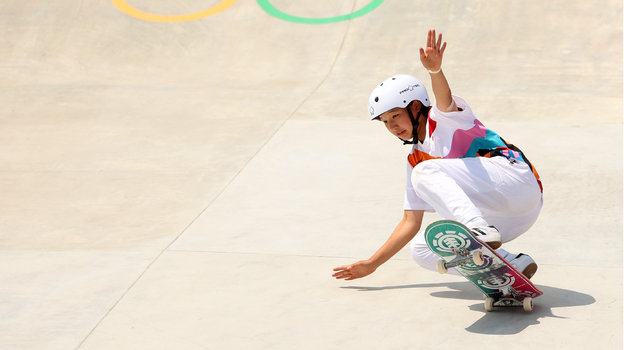 Олимпийские игры-2020 вТокио: скейтбординг, женщины. Японская девочка выиграла Олимпиаду в13 лет