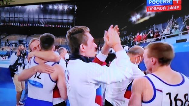 Радость российских гимнастов.