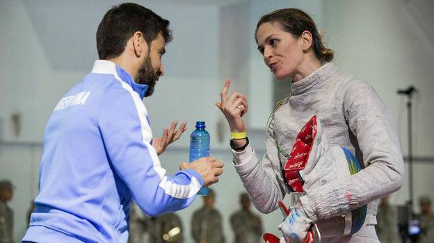 Лукас Сауседо иМария Белен Перес Морис. Фото Twitter