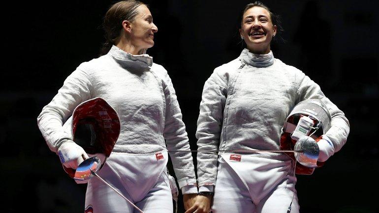 Яна Егорян иСофья Великая. Фото AFP