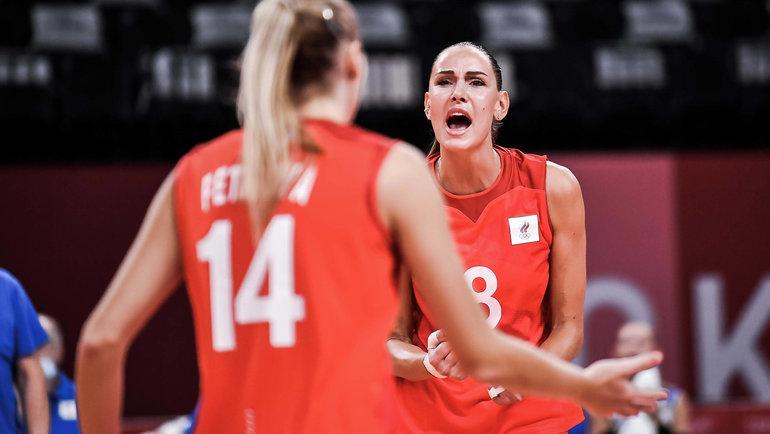 Женская сборная России поволейболу победила Аргентину наОлимпийских играх вТокио. Фото volleyballworld.com