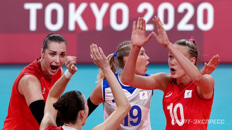 Женская сборная России поволейболу победила Аргентину наОлимпийских играх вТокио. Фото Дарья Исаева, «СЭ» / Canon EOS-1D X Mark II
