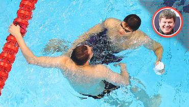 Плавание. Олимпиада. Как оценивать успех спинистов Рылов иКолесникова. Интервью Дмитрия Губерниева