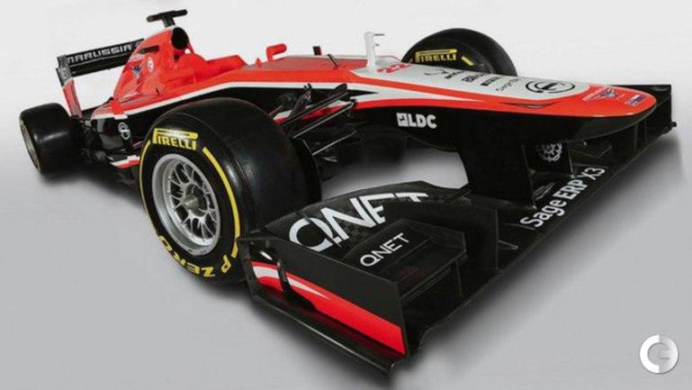 """Новый болид команды """"Формулы-1"""" """"Маруся"""". Фото marussiaf1team.com."""