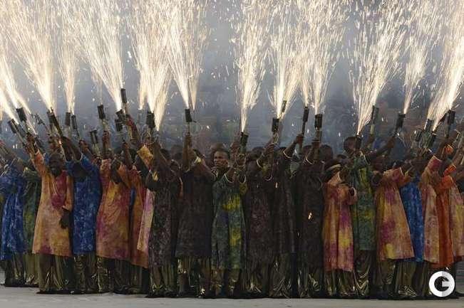 Залп петард перед финалом Кубка Африки