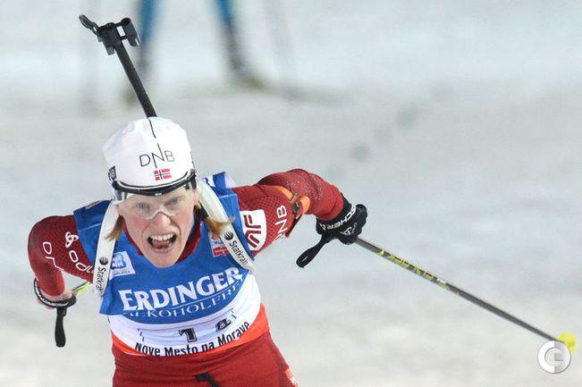 Тура БЕРГЕР приносит победу сборной Норвегии. Фото AFP.