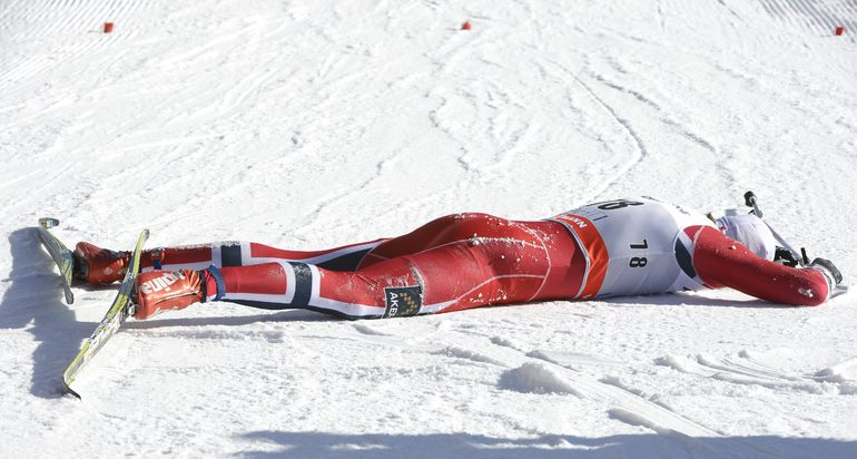 Нортуг падает на финише в Лахти
