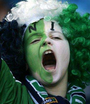 Фанаты и фанатки сборной Северной Ирландии