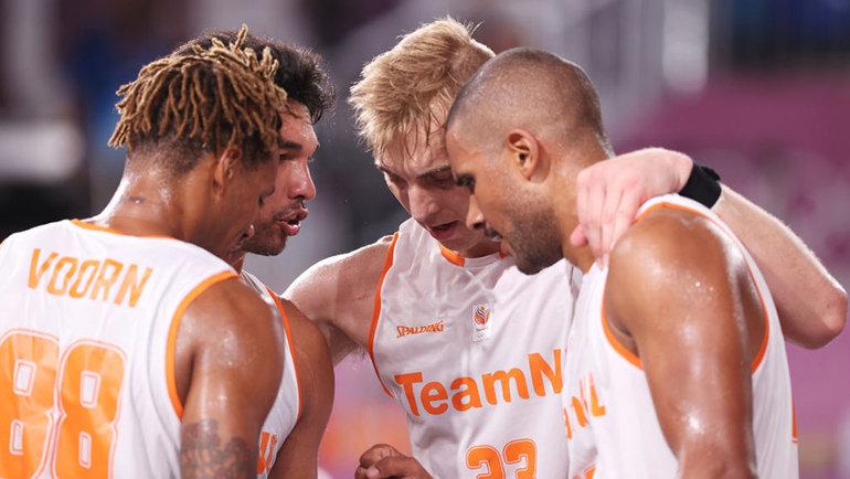 Баскетболисты сборной Нидерландов. Фото Getty Images